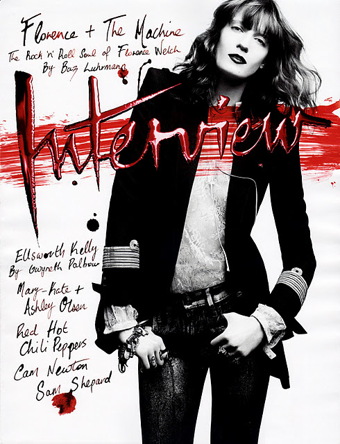 Florence Welch - Interview Magazine October 2011 01 Florence and the machine interview magazine cover 2011 hot sexy rare photo shoot promo