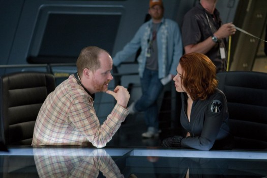 joss whedon and scarlett johansson behind the scenes on marvels the avengers hot and sexy rare promo black widow buffy the vampire slayer hot sexy damn fine the avengers