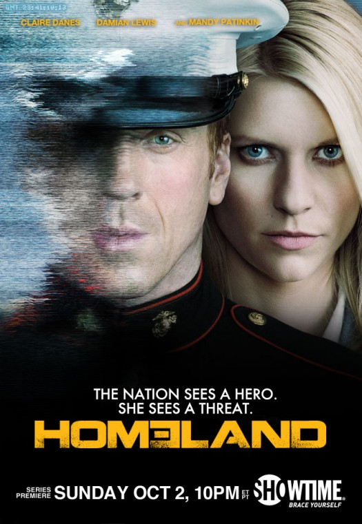 showtime's homeland promo press poster one sheet artwork rare claire danes mandy patinkin rare sexy hot promo press still