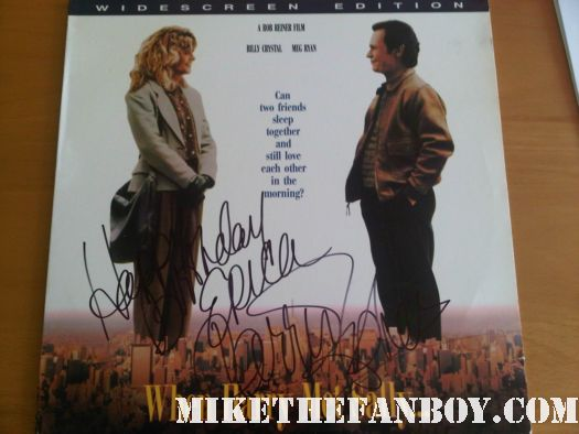 carrie fisher signed autograph when harry met sally rare laserdisc poster movie hot sexy rare meg ryan billy crystal rare promo