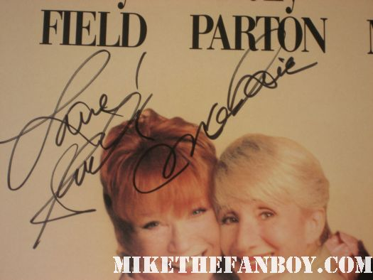 shirley maclaine signed autograph rare promo one sheet movie poster steel magnlias mlynn rare shirley maclaine after her show at her northridge show refusing to sign autographs for fans then signing scotty's steel magnolia's one sheet movie poster Oiser Boudreaux steel magnolias
