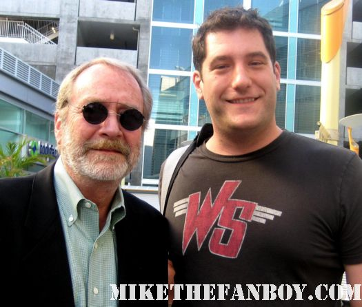 Mike the fanboy with clue the movie star martin mull at the world movie premiere of And they're off at the arclight theatre signed autograph