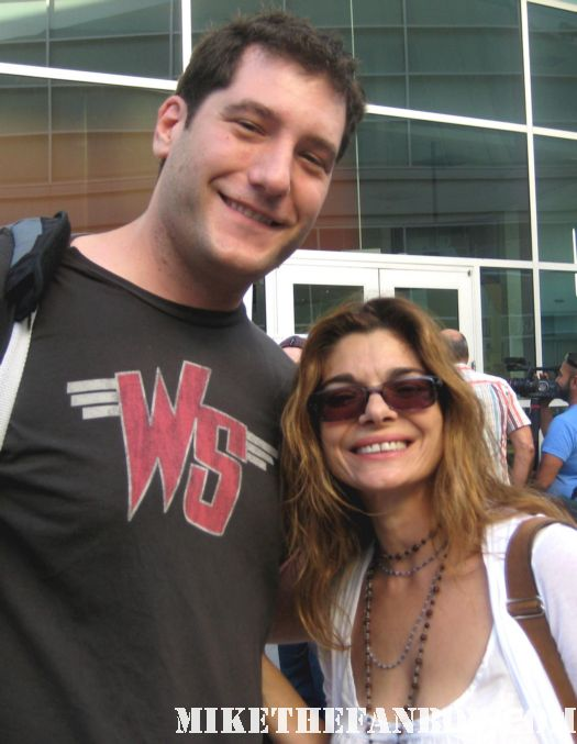 Mike The Fanboy with Laura San Giacomo at the world movie premiere of and they're off