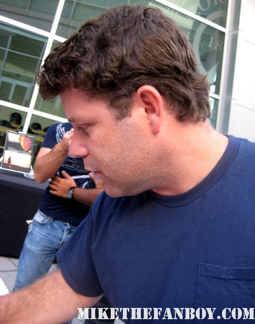sean astin signed autograph at the world movie premiere of and they're off... lord of the rings the goonies