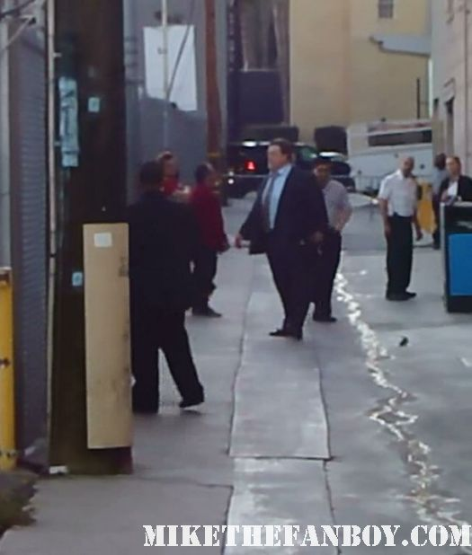 roseanne star john goodman arrives to a talk show taping to promote red state big lebowski