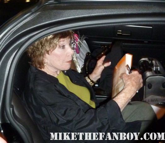 shirley maclaine after her show at UCLA refusing to sign autographs for fans then signing scotty's in her shoes dvd cover Oiser Boudreaux steel magnolias