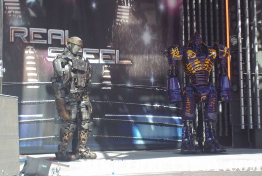 The Real Steel US World Premiere Hugh Jackman Dakota Goyo Evangeline Lilly Anthonie Mackie