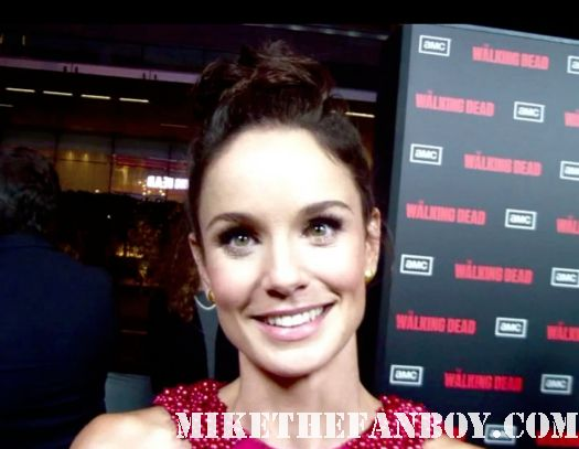 Sarah Wayne Callies on the red carpet at the walking dead season 2 world premiere in los angeles