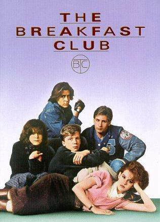 breakfast_club rare one sheet movie poster ally sheedy anthony michael hall molly ringwald judd nelson emilio estevez promo press still john bender