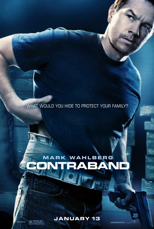 Marky Mark Wahlberg in the contraband one sheet movie poster rare teaser hot sexy rare promo sexy hot teaser movie poster