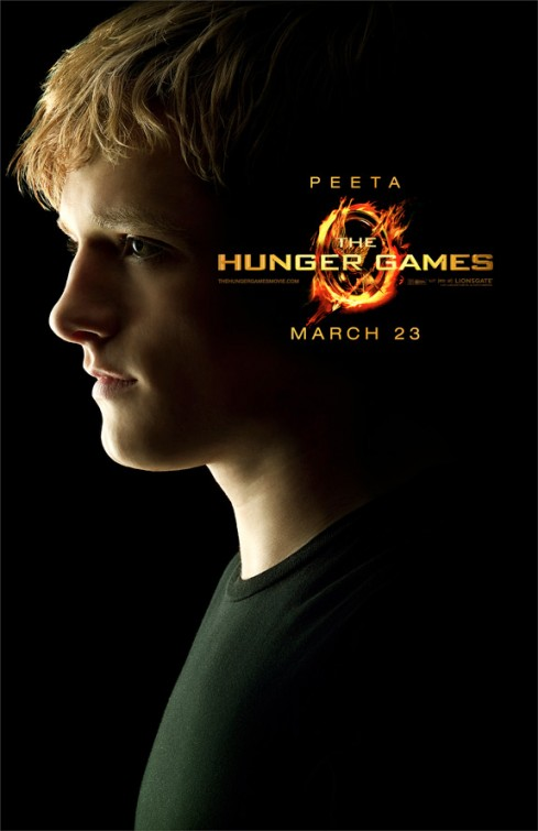 hunger_games_ver16 rare josh hutcherson peeta individual promo movie poster hunger games rare hot sexy promo kids are alright