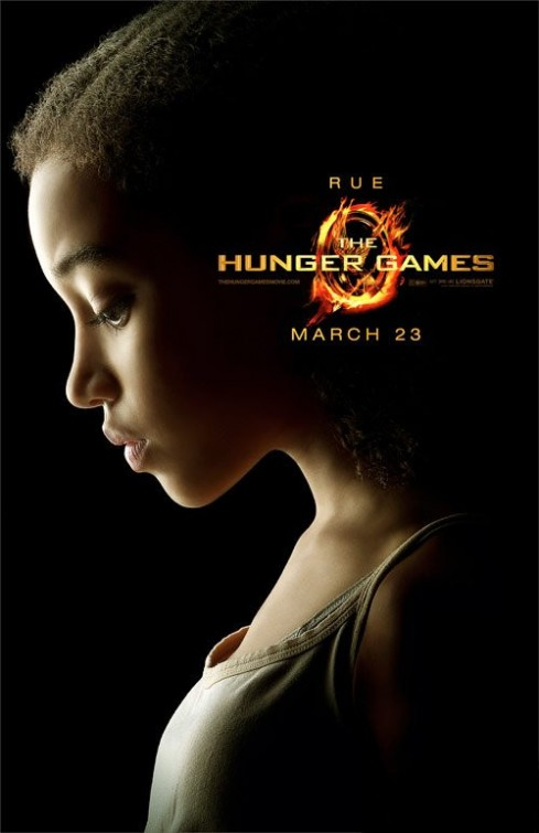 hunger_games_ver21 rue rare promo individual promo movie poster hunger games Amandla Stenberg hot sexy rare colombiana