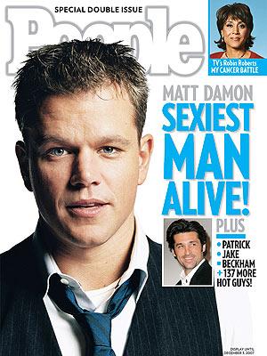 people magazine the sexiest man alive matt damon magazine cover hot sexy rare promo