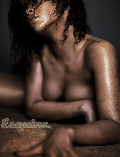 rihanna-esquire-magazine-november-2011 sexy hot naked wet photo shoot rare promo sexy hot rihanna disturbia damn fine boob rare promo