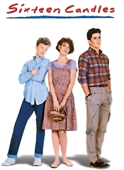 sixteen candles rare promo movie poster art molly ringwald anthony michael hall jake ryan Michael Schoeffling sexy shirtless hot sexy