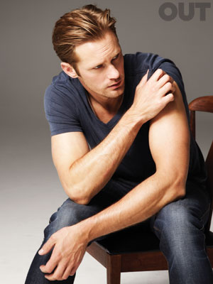 alexander skarsgard eric northman from true blood sexy hot photoshoot for OUT magazine november 2011 rare promo sexy vampire true blood promo
