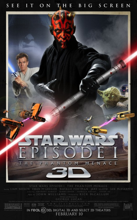 star_wars_episode_one_the_phantom_menace re-release promo one sheet movie poster darth maul yoda ewan mcgregor promo poster