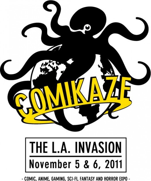 comikaze logo the la invasion november 5 and 6 2011 logo los angeles convention center rare promo hot rare octi