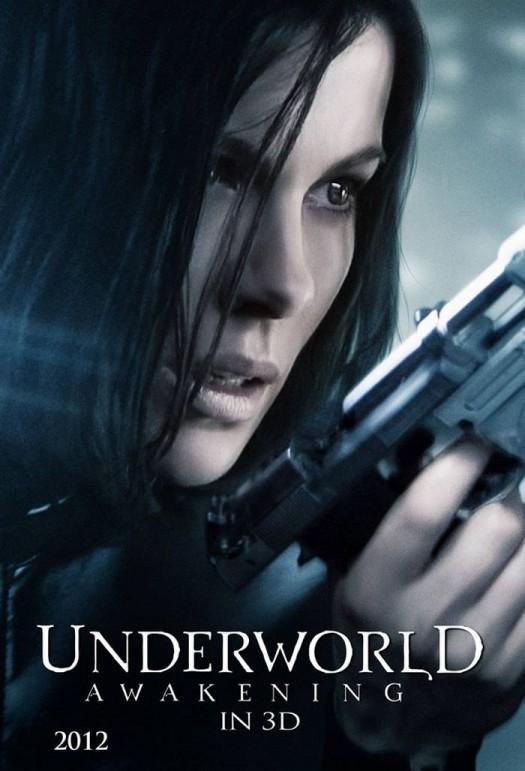 kate beckinsale in the underworld awakening movie poster one sheet promo hot black leather rare selene