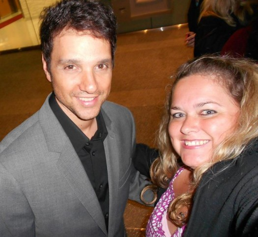 pretty in pink with ralph macchio at a pre emmy party posing for a fan photo my cousin vinny the karate kid