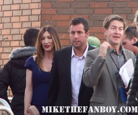 adam sandler arriving to the jack and jill world movie premiere the red carpet at the adam sandler supposed comedy jack and jill world movie premiere rare hot sexy david spade katie holmes promo