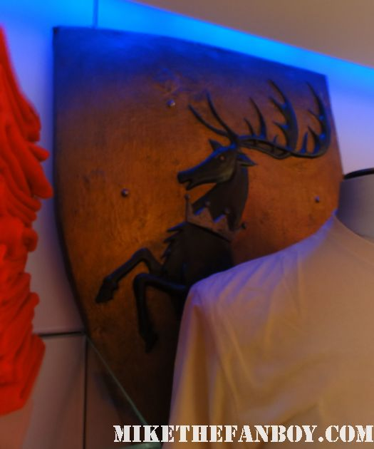 game of thrones on HBO prop and costume display from new york city sean bean lean headey hot sexy rare sheild deer baratheon shield