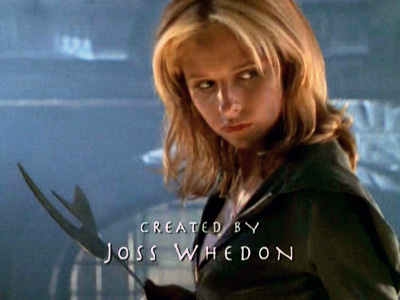 Buffy the vampire slayer  season 2 credit photo title card joss whedon sarah michelle gellar rare season 7 promo photo shoot entertainment weekly buffy quits promo cover shoot
