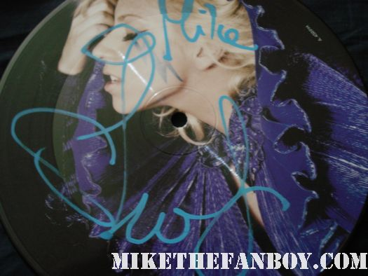 """lady gaga hand signed autograph just dance promotional picture disc 7"""" sexy hot rare blue paint pen"""