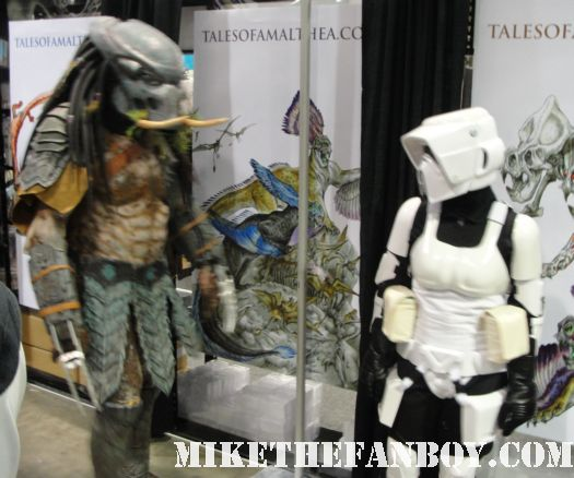 star was and predator cosplayers costumed people at the comikaze expo 2011 los angeles convention center rare promo