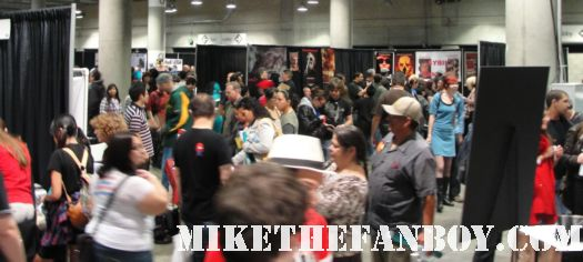 the crowd piling into Comikaze expo 2011 at the los angeles convention center rare promo hot