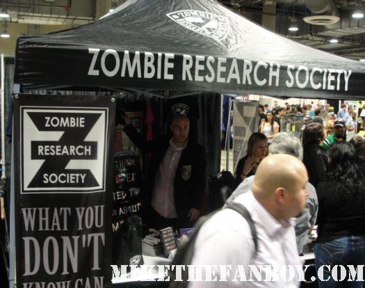 the zombie research society booth at comikaze expo 2011 rare promo fun zombie booth hot rare
