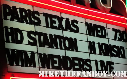 HARRY DEAN STANTON wim wenders aero theatre paris texas q and a marquee rare los angeles