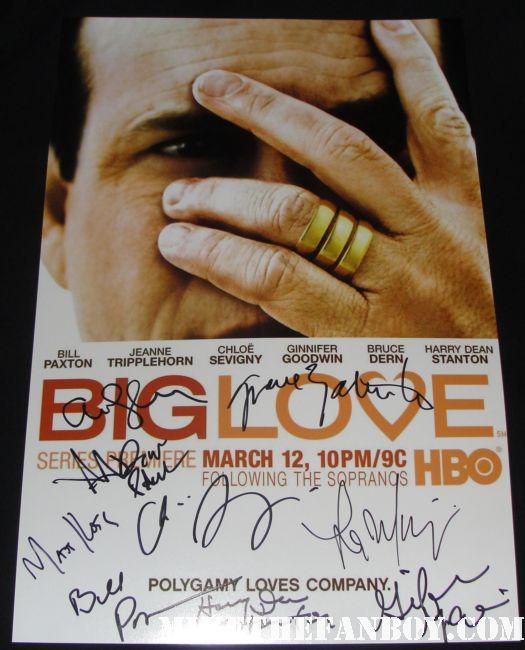 big love cast signed autograph promo poster harry dean stanton bill paxton ginnifer goodwin rare autograph promo hot rare