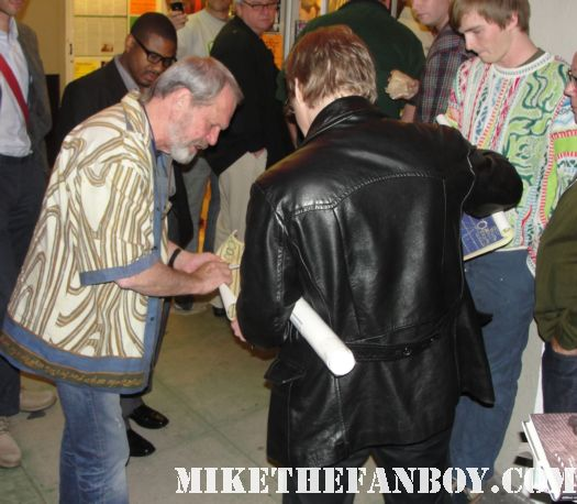 brazil director terry gilliam signing autographs for fans at a screening in santa monica 12 monkeys time bandits