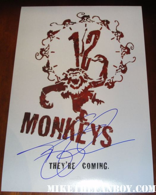 12 monkeys signed autograph mini poster terry gilliam bruce willis madeline stowe brad pitt