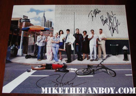 nurse jackie signed autograph season 3 cast photo peter facinelli edie falco rare promo