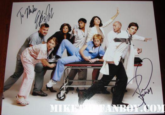 nurse jackie signed autograph season 2 cast photo peter facinelli edie falco rare promo