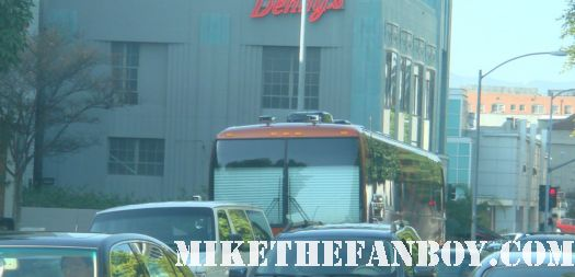 the tour buses parked waiting for Lady Gaga to arrive at the wiltern theatre in 2009 sexy hot rare