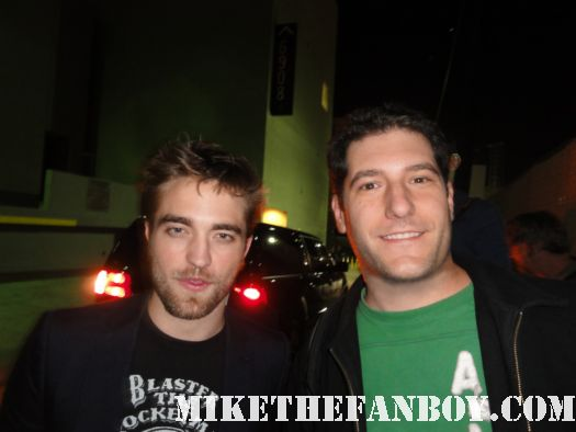 mike the fanboy with robert pattinson star of harry potter and twilight edward cullen fan photo rare promo