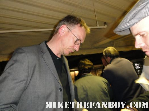 David Thewlis, Professor R.J. Lupin from the Harry Potter movies signing autographs for fans before and q and a at the arclight theatre