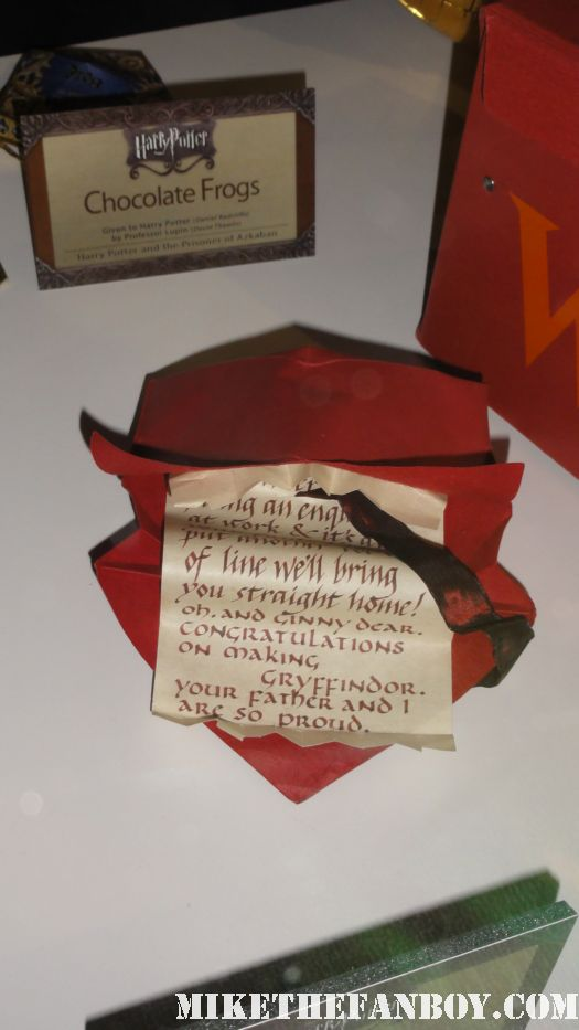 harry potter prop and costume display rare promo rare daily prophet newspaper harry potter and the deathly hallows daniel radcliffe howler letter Aragogs-leg