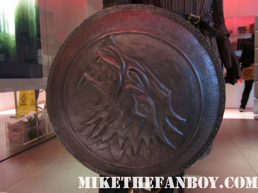 game of thrones on HBO prop and costume display from new york city sean bean lean headey hot sexy rare sheild deer dragon eggs