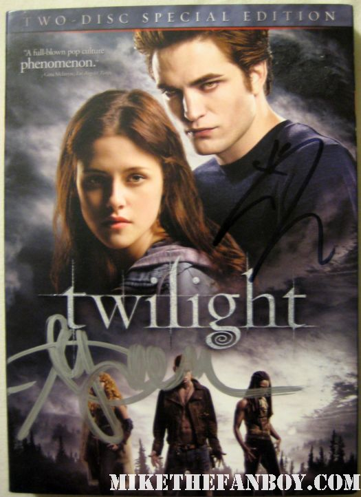 ashley green and jackson rathbone signed autograph twilight dvd cover rare promo hot sexy rare