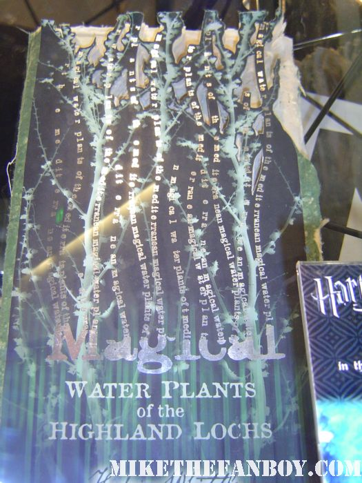 harry potter prop and costume display rare promo rare daily prophet newspaper harry potter and the deathly hallows daniel radcliffe magical water plants