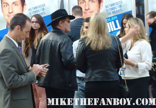 mickey dolenz from the monkees arriving to the jack and jill world movie premiere the red carpet at the adam sandler supposed comedy jack and jill world movie premiere rare hot sexy david spade katie holmes promo