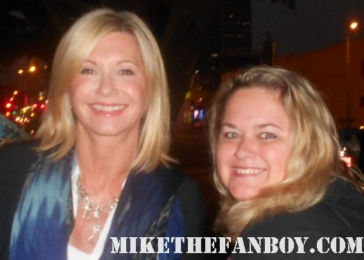 pretty in pink from mike the fanboy with grease star ms. olivia newton john xanadu fan photo rare signed autograph