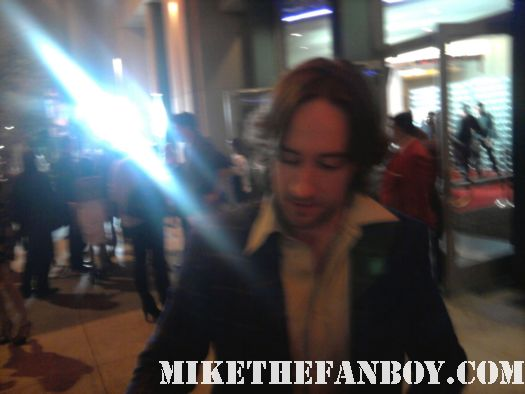 Phil Burke hell on wheels star stops to sign autographs at the hell on wheels world premiere AMC