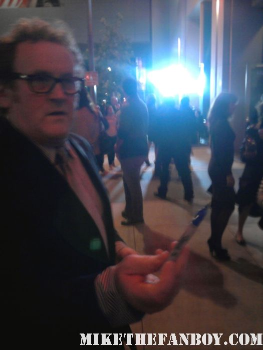 colm meaney hell on wheels star stops to sign autographs at the hell on wheels world premiere AMC