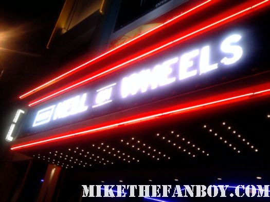 amc hell on wheels marquee at the world movie premiere in los angeles neon amc rare hell on wheels promo hot anson mount sexy