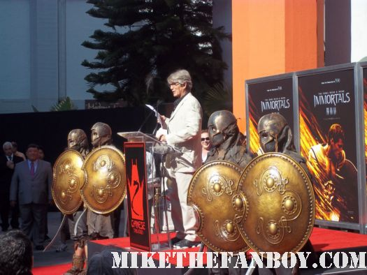 eric roberts giving his speech at chuck liddell mickey rourke's hand and footprint ceremony at grauman's chinese theatre! Mickey rourke signed autograph immortals